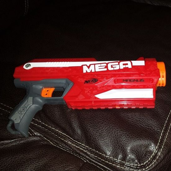 New addition to the Nerf arsenal. Mega Magnus Target Deal Currently $14.99 w/ free set of 12 elite ammo PM with amazon: $11.19 Target cw - 20% = $8.95 red card - 5% Total: $9.10 Cartwheel Savingmoney RedCard