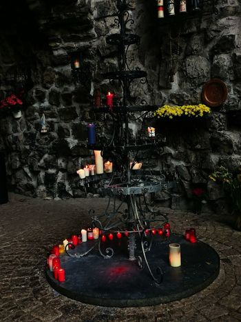 Urban1 Fllter XperiaZ3 Shrine Stones Candles Flowers Amazing Place Alone Atmosphere