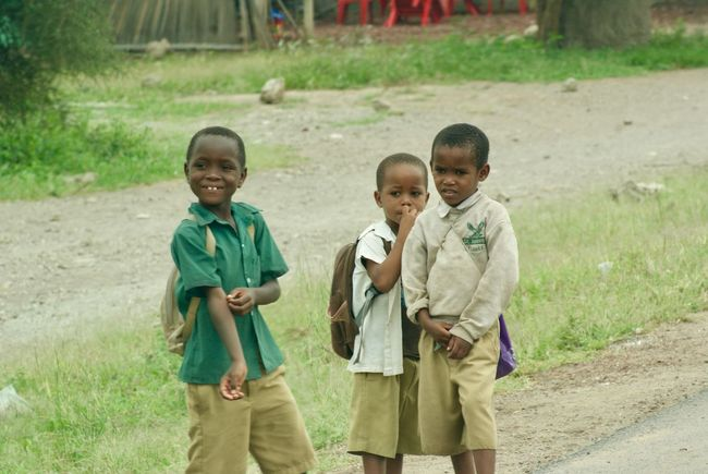 Se acabaron las clases Friends Tanzania Africa African People Boys Child Childhood Education Friendship Happiness School Smiling