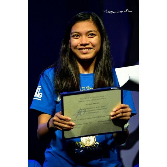 The lady eagle phenom @alyssa_valdez2 received special recognition at the Ateneo Bonfire 2014 HeartStrong Ateneobonfire2014 Admu Themanansala alyssavaldez ateneoladyeagles bagyongBaldo