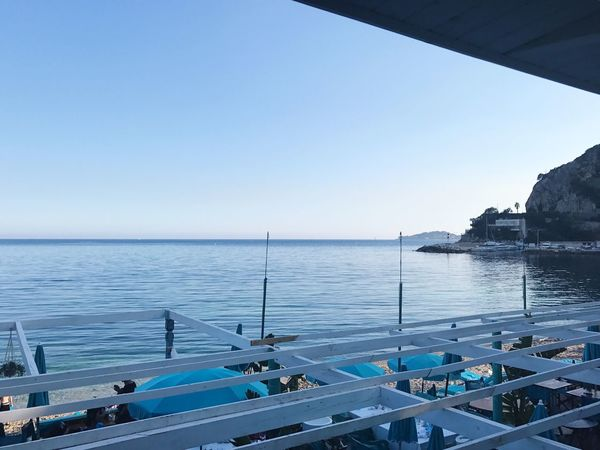 Horizon Over Water Sea Clear Sky Eze, France Mediterranean  French Riviera