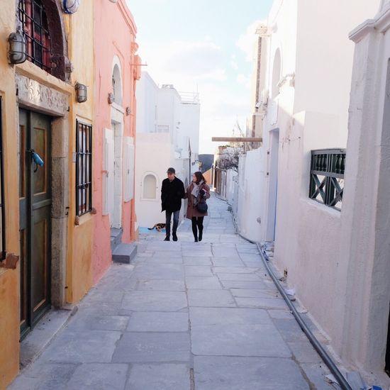 EyeEmNewHere Architecture City Togetherness Lifestyles People Love Relationship Winter Greece Santorini Island Travel Travel Destinations Pastel