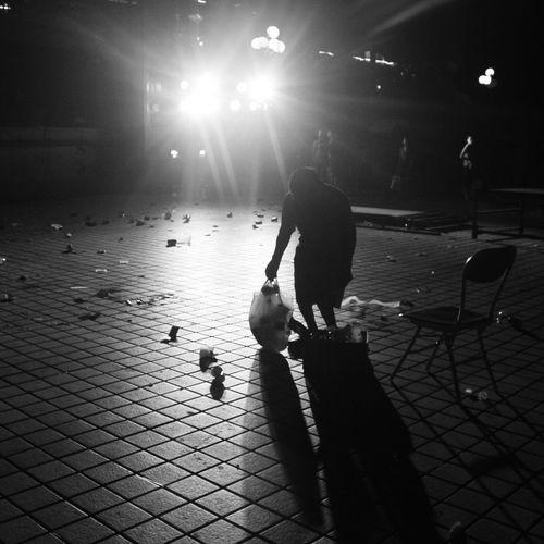 Walking Outline Person Silhouette Junkman Scrounger