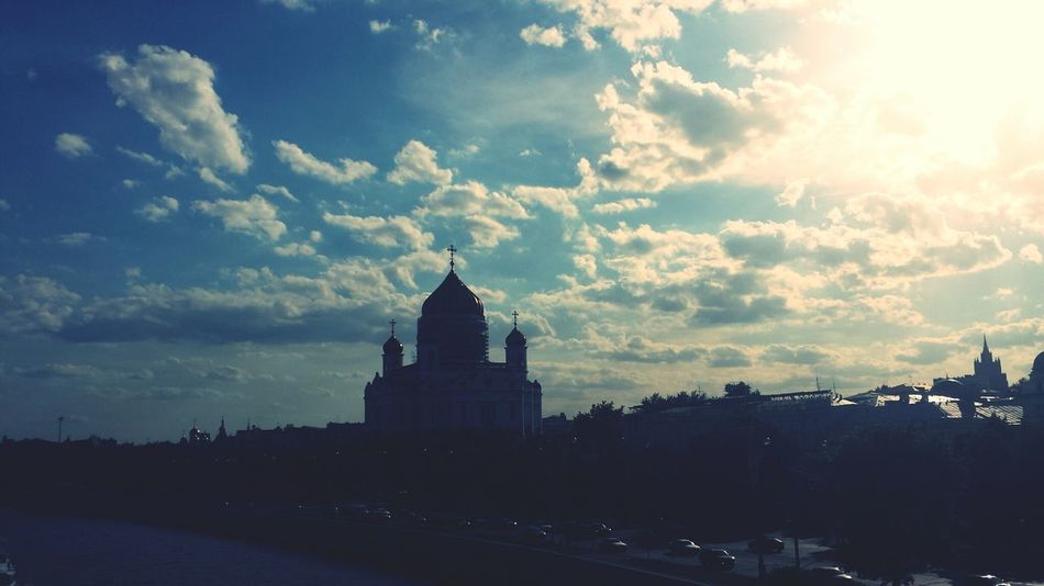Moscow Cathedral Of Christ The Savior Sky Clouds