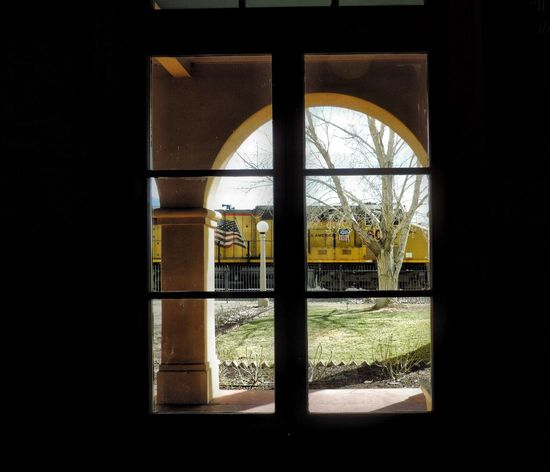 Train Spotting Window Looking Through Window Train Train Station Union Pacific Union Pacific Railroad Architecture Kelso