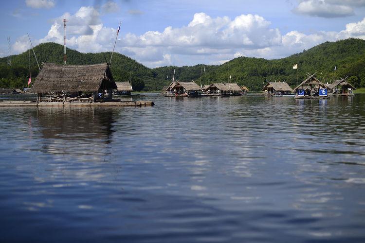 Huai Krathing, Loei province, Thailand. Beauty In Nature Cloud - Sky Lake Lake View Loei,thailand Mountain Nautical Vessel Outdoors Raft Rafting Scenics Sky Tourist Destination Tranquility Water