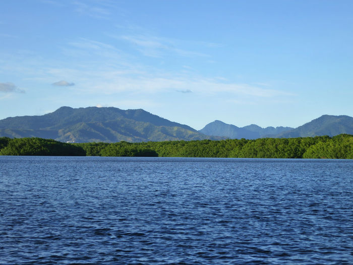 Water Sky Scenics - Nature Mountain Tranquil Scene Beauty In Nature Tranquility Nature No People Waterfront Mountain Range Non-urban Scene Day Lake Blue Cloud - Sky Rippled Outdoors Idyllic View Into Land Marsh Trinidad And Tobago Caroni Swamp Swamp Serenity