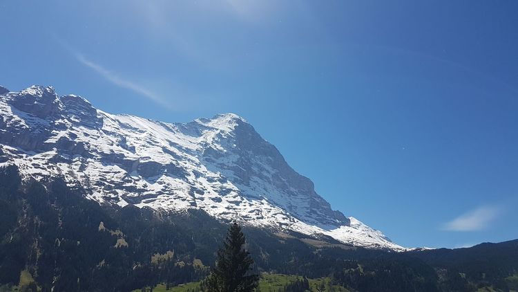 Outdoors Home Is Where The Mountains Are! 🗻 ❄ Swiss Mountains Landscape Beauty In Nature Nature Summer Idyllic Mountain Clear Sky Swiss Alps Mountain Range Switzerland Snow