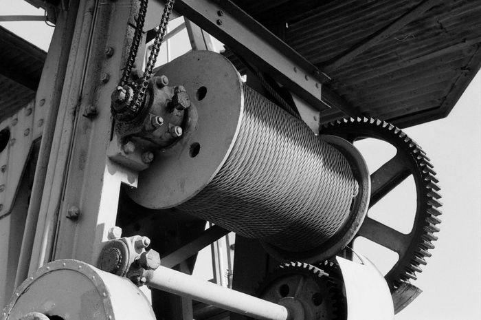 Steel Steel Cable Steel Structure  Chain Gearwheel Crane Port Winch Industrial Industrial Photography Industry Framework Blackandwhite Analogue Photography Analog Photography Kleinbildfilm Lake Constance Bodenseeregion Friedrichshafen Am Bodensee Black And White Friday