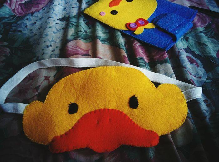 Ducks Felt Craft Eye Mask Cellphone Case