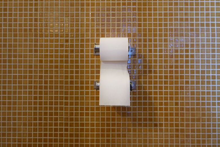 Toilet paper on the wall