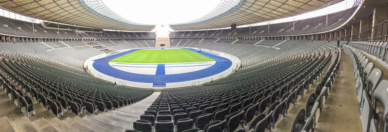 Berlin Football Olympic Olympics Panorama Stadium Architecture Atletic Germany Indoors  Modern No People Soccer Sport Stadium Track