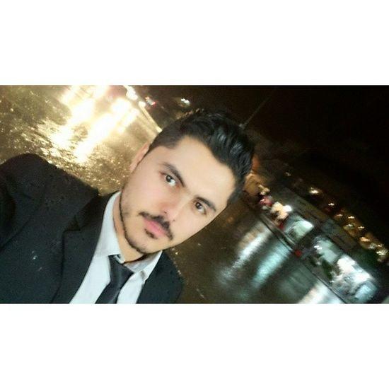 """I love walking in the rain because no one knows that I am crying"" 😳😐😔 Charliechaplin Me Selfie Kurdish kurd rain night kurdistan"