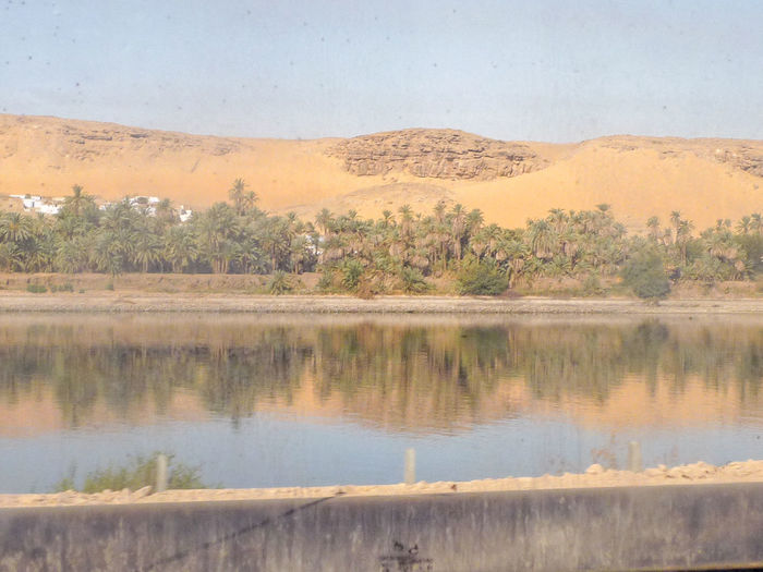 Arid Climate Boat Trip On The Nile Deserts Around The World Egypt Exploring Giza NİL Nile River On The Way To Giza Reflection Reflet Dans L'eau Reflet Du Nl Riverbank Scenics Standing Water Sur Le Nil The Nile River Tranquil Scene Tranquility Water Waterfront égypte