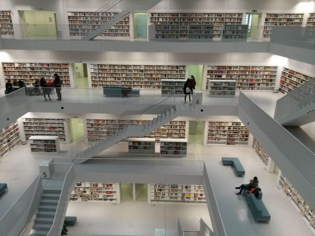 Indoors  Architecture Day Bibliotheque Books ♥ Book Collections BookLove Modern Architecture Modern Stairs Stairs_collection Bibliothek Bibliothek Stuttgart