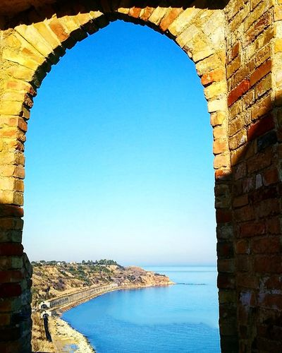 Architecture Clear Sky History Arch Travel Destinations Sky Building Exterior Built Structure Outdoors No People Day Water Natural Arch Window On The Town Window On The Sea Windowporn Window View Nature