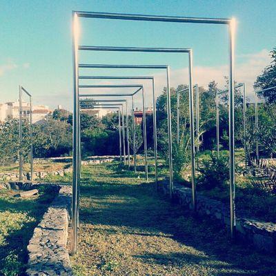 Palos de metal | Metal sticks Metal Palos Sticks Parque  Park Nature Green