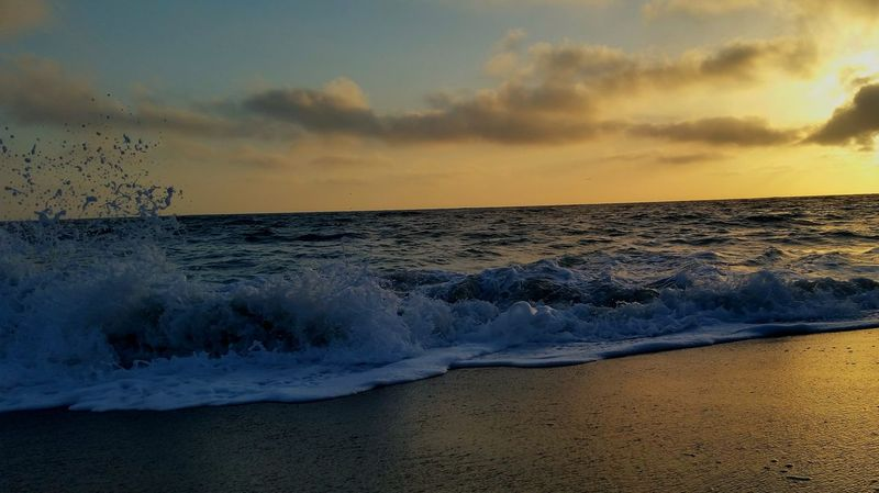 Breaking Wave Sunset