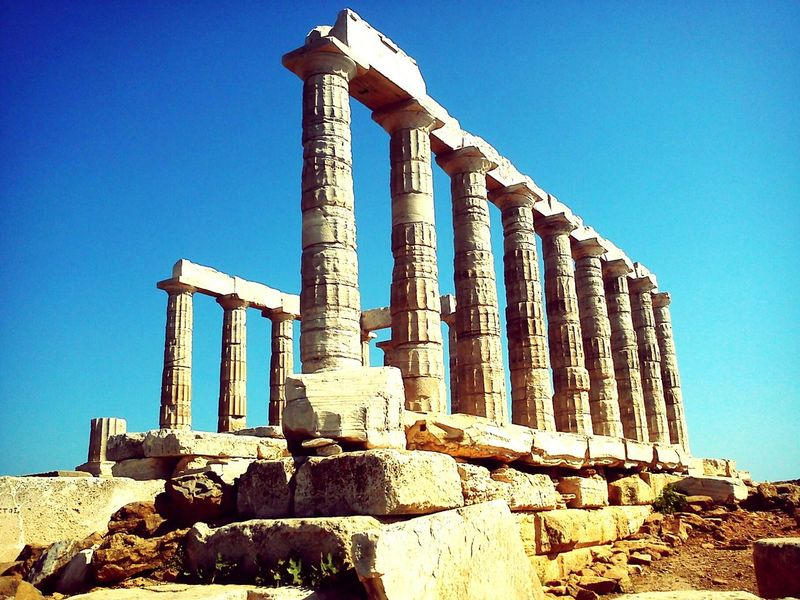 Greece Sounion Ancient Temple Historical Monuments Ancient Greek Architecture And Design Living History History Through The Lens  Greek Civilization