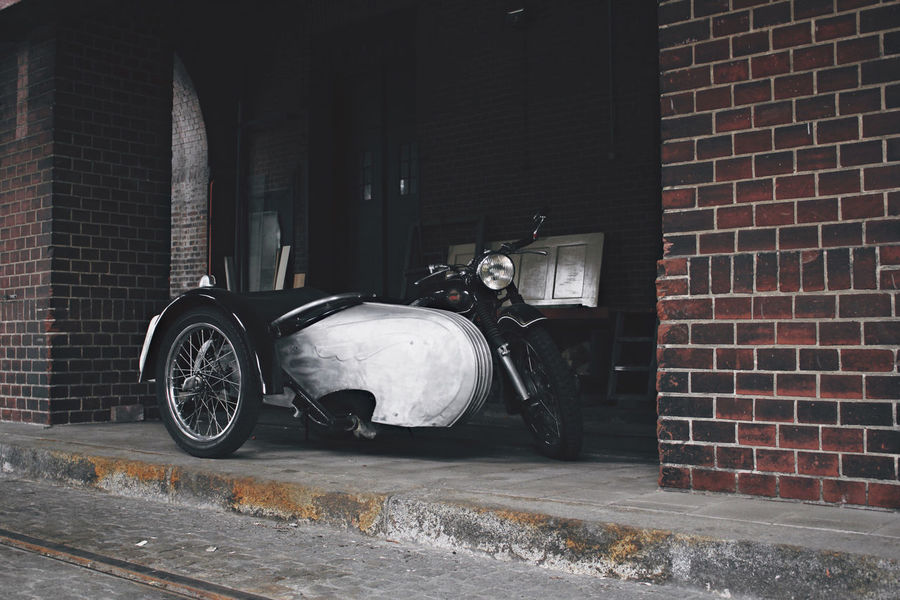 30 Ancient Antique Architecture Bike Brick Wall Building Exterior Built Structure City Industrial Land Vehicle Metal Metallic Motorcycle No People Old Oldtimer Side Car Sidecar Transportation EyeEm Selects EyeEm LOST IN London Investing In Quality Of Life Discover Berlin EyeEm Ready
