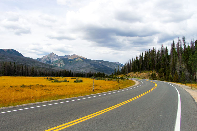 Cloud Country Road Countryside Driving The Drive Landscape Long Mountain Mountains Nationalpark Road Road Marking Road Trip Rocky Mountains Solitude Summertime A Bird's Eye View Trail Ridge Road Tranquil Scene Tranquility Transportation Travel Destinations Travel Photography Vacation Valley