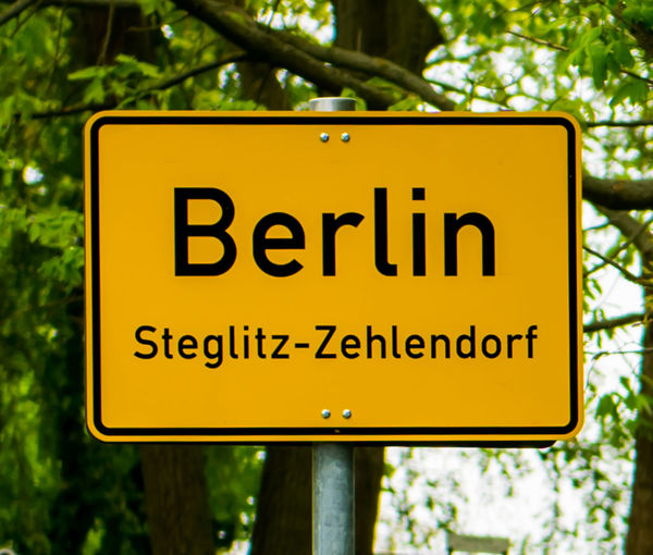 Berlin Berlin City Limit Sign Berlin Steglitz Berlin Zehlendorf City Limits Day Guidance Nature No People Outdoors Road Road Sign Road To Berlin Roadtrip Steglitz Steglitz-Zehlendorf Tree