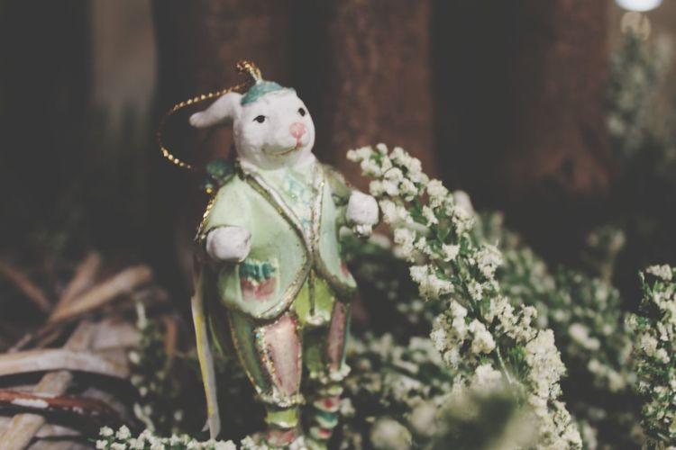 EyeEm Selects Tree Easter Stuffed Toy Doll Christmas Figurine  Celebration Childhood Toy Easter Bunny Rabbit - Animal