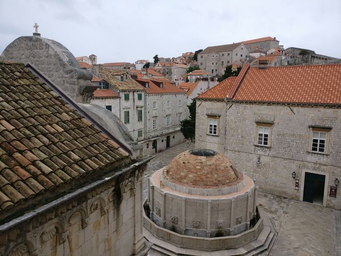 Croatia Old Town Architecture Building Exterior Built Structure Day Dubrovnik Look From Above Medditerineansea Outdoors Roof Shingles Tiled Roof