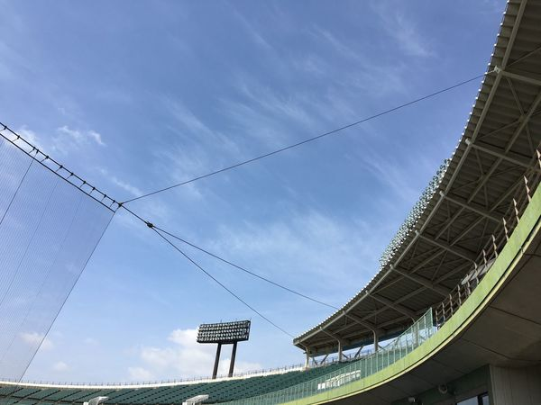 Sky Low Angle View Architecture Day Built Structure No People Outdoors Cloud - Sky Building Exterior Stadium Make You Coffee