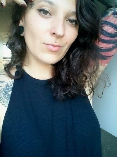 Portrait Loner Brown Hair Curly Hair Brownie Tattoo Girl Inked Inkedgirls Self Portrait Brown Eyes Cat Eyes