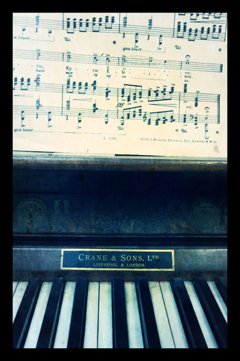 Antique Close-up Crane&Sons Day Grand Piano Indoors  Music Notes No People Notes Piano Keys Text Vintage Vintage Piano