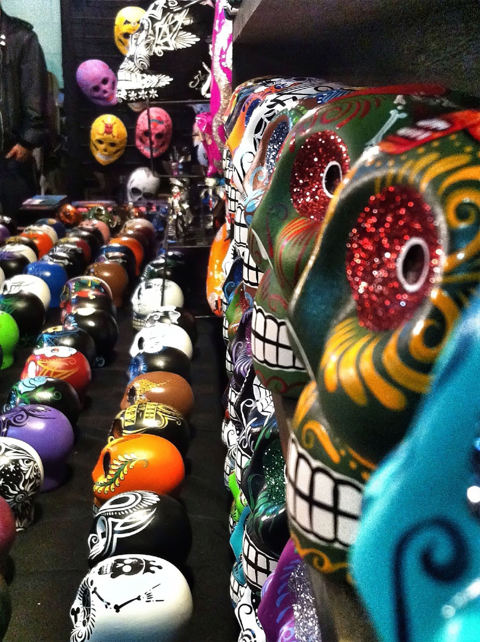 indoors, multi colored, for sale, retail, variation, choice, decoration, abundance, tradition, large group of objects, art and craft, celebration, market, cultures, market stall, creativity, high angle view, store, art, collection