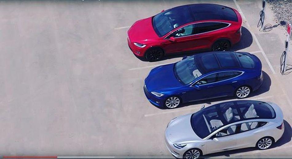 All 3 models comparing 😎😎 Tesla Modelx Teslamodel3 Teslas Ev