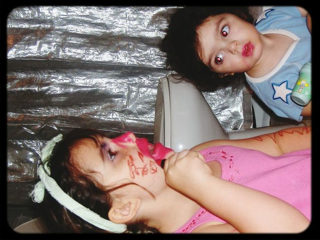 Authentic Moments Sisters Playing Dress Up Austin, Texas Younger Sister Admires Older Sister