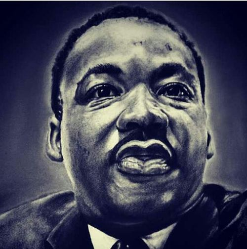 A Painting of Dr. Martin Luther King JR. .......THANK YOU for EVERYTHING YOU DID !!!!!