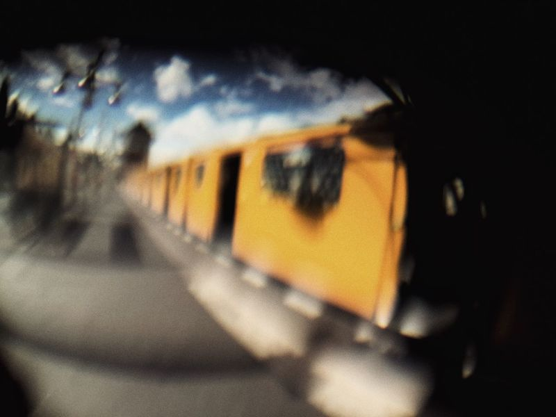 Berlin Subway Yellow Subway Berliner U-bahn Streetphotography Fisheye Pinhole Battle Of The Cities Paint The Town Yellow