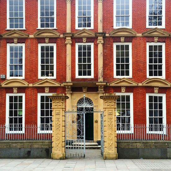 Bristol Queens Square United Kingdom Building Façade Architecture Brick Windows Sidewalk Exterior