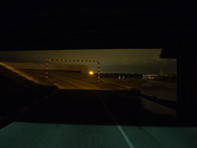 City Construction Dark Irkutsk Light Road Russia Under Abstract Beneath Bridge Frame Night Shadow Sky Strucrure Water