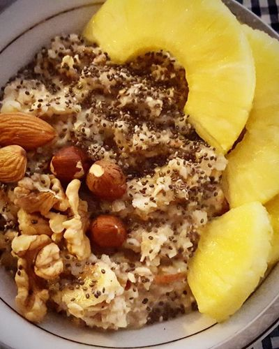 A cup of very hot hello's A plate of a nice crispy wishes A spoon of sweet smiles and a slide of awesome success. Enjoy your Yummy breakfast 😆😊 happy friday ! Goodmorning Yummy Tgif Recipe Breakfast Friday Yummyinmytummy Healthy Motivation Fitfam Chia Raw Pineapple Raw Vegan HealtyFood Foodie