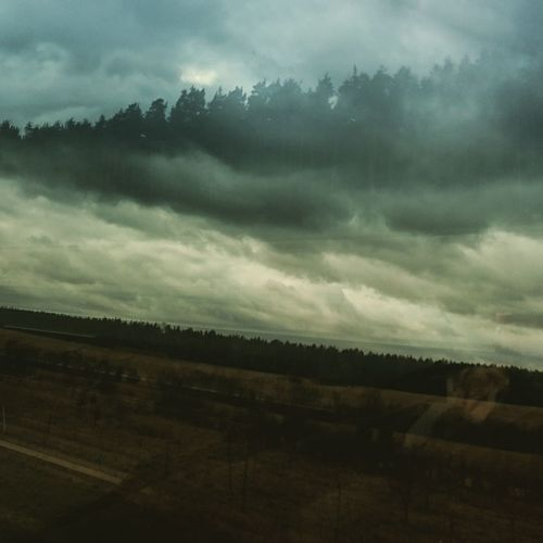 Scenics Sky Dramatic Sky Beauty In Nature Cloud - Sky Nature Landscape More Landscape Storm Cloud No People Drivebyphotography Eyeemphotography Naturephotography Colorphotography Window Reflection