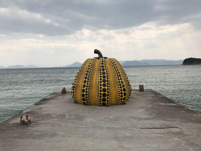Yayoi Kusama Art Installation on Naoshima island, taken March 2017.