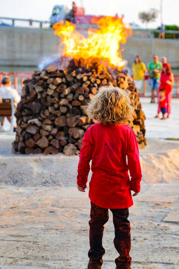 Burning SPAIN San Juan Building Exterior Burn Burning Burning Wood Childhood Cultures Day Fiesta Fire Flame Full Frame Heat - Temperature Leisure Activity Lifestyles One Person Outdoors People Real People Rear View Spanish Culture Standing Traditional Festival