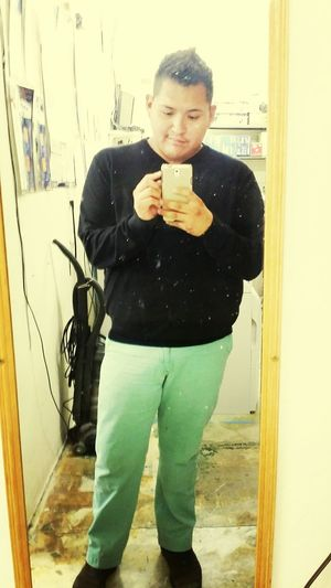 Black sweater and turquoise chinos First Eyeem Photo