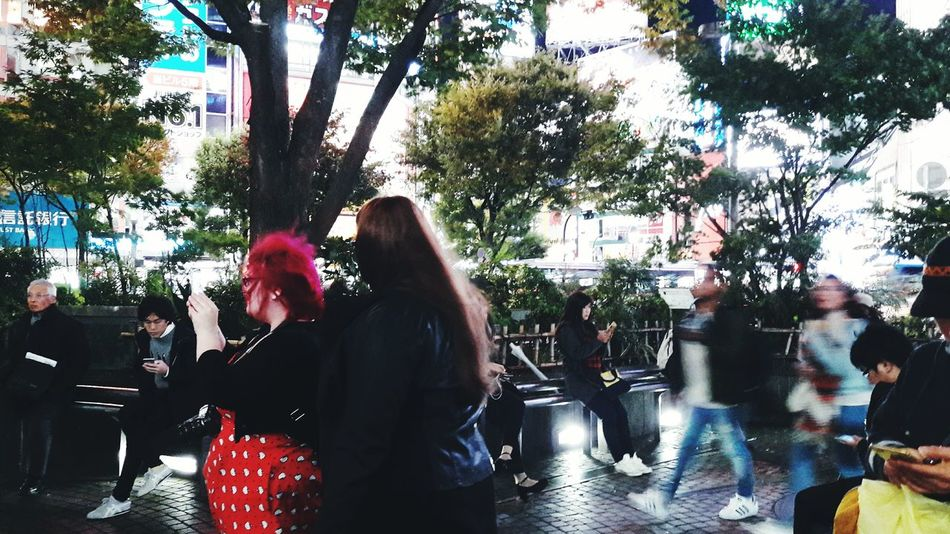 Snap A Stranger Tokyo Japan Japan Photography Street Photography Shibuya Strangers Strangers In The Night Capture The Moment Night Life Night Lights Neon Lights People And Places People Photography Illuminated EyeEm Best Shots See The World Through My Eyes Redhead Red Hair People Of The World Moments Of Life Night Walking