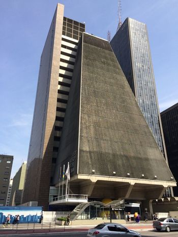 SAO PAULO BRAZIL City Cityscape Enlight EyeEm EyeEm Team Photofox Architecture Building Exterior Built Structure City Day Low Angle View Modern No People Outdoors Photoftheday Sky Skyscraper