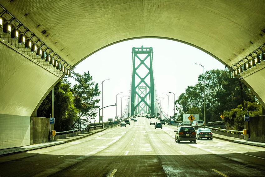 Oakland Bay Bridge Architecture Bridge Bridge - Man Made Structure Building Exterior City Leading Motorway Oakland Bay Bridge Perspective San Francisco Tunnel