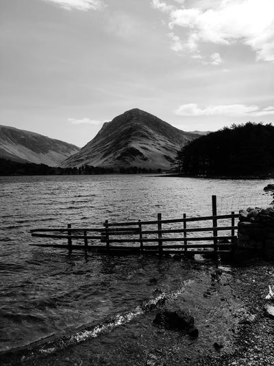 The Lake District  Moody Nature Blackandwhite Fleetwith Pike Buttermere Water Sky Nature Tranquil Scene Day Tranquility Scenics - Nature Mountain Beauty In Nature No People Lake Waterfront Outdoors Non-urban Scene