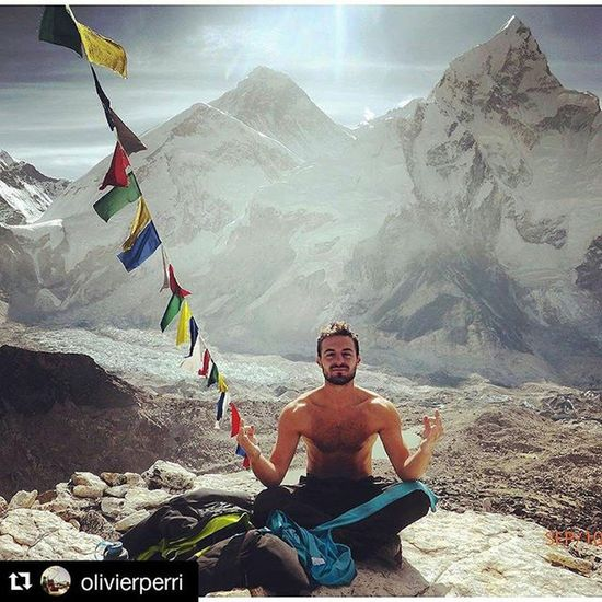 Repost @olivierperri with @repostapp ・・・ Meditation in front of Mount Everest at 5550m KalaPatthar Everest Trek Nepal Everestbasecamp Mounteverest Mountaineering Travelgram Naturegram Yoga Meditation Attitude Altitude Snow Pictureoftheday Picturesque Hiking Backpacking Trek Mojo NiggasBelike Climber Snow