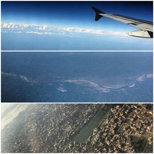 Taken from the sky, the Himalayas Riverganga and Civilization amazing feat of Highaltitudephotography