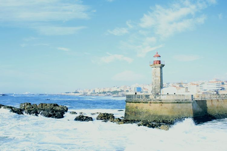 Lighthouse Building Exterior Travel Destinations Sky Travel Tower Sea Day Outdoors No People Water Foz Do Douro Portugal Portugal Porto Photography Portugaldenorteasul History Beach Architecture Cloud - Sky Lighthouse Walking Douro River